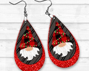 Gnome Earring PNG, Earring Sublimation Images, Earring Templates, Christmas Sublimation, Christmas  Downloads, Digital Download