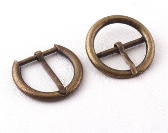 Round Brass Statement Buckle with Non-Animal Belt In Style