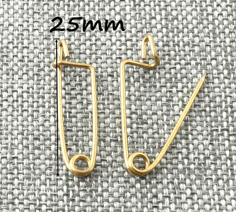 Safety Pins Gold Small Brooch Pins Unique Shape Needle Pins Kilt Pins Pins for Sewing Jewelry Making-3050pcs