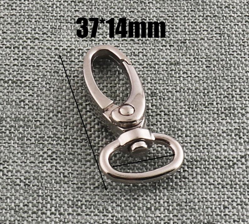 Swivel Clasp Nickel Finish 1419mm Oval Lobster Swivel Hook Purse Hook Trigger Clasp Snap Hook Bag Lanyard Clasps-10pcs