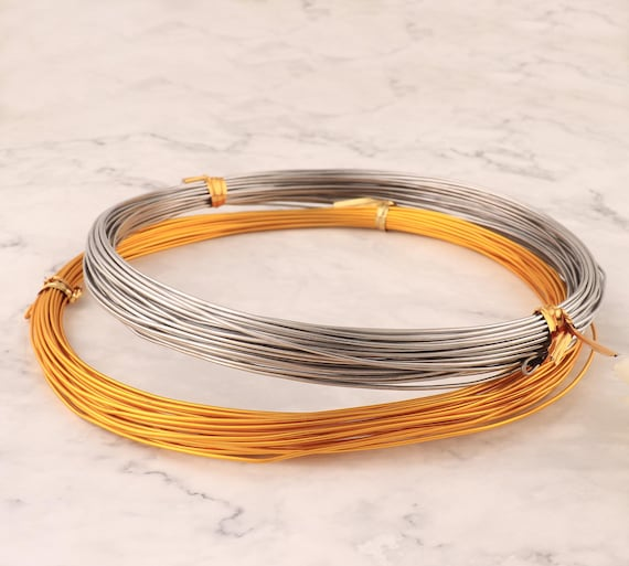 10m//roll Aluminum Silver Wires 18 Gauge 1.0mm For DIY Manual Arts and Crafts