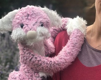 Emily the Slobbit – small hand puppet made with faux fur