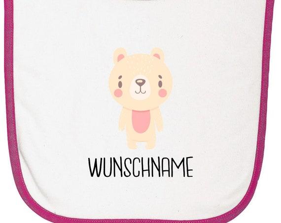 """Kleckerliese Baby Latz """"Tiermotiv mit Wunschnamen Bär Eisbär"""" mit Wunschtext Lätzchen Babylatz Babylätzchen mit Aufdruck Motiv"""