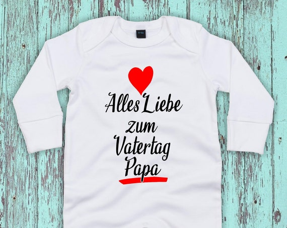 """Kleckerliese Baby Schlafanzug """"Alles Liebe zum Vatertag Papa"""" Sleepsuit Jungen Mädchen"""