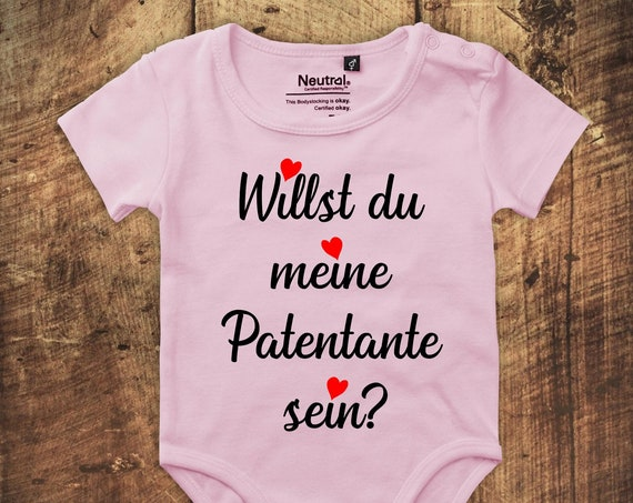 "Babybody Bodysuit ""Do you want to be my patentee?"" Fair Wear"