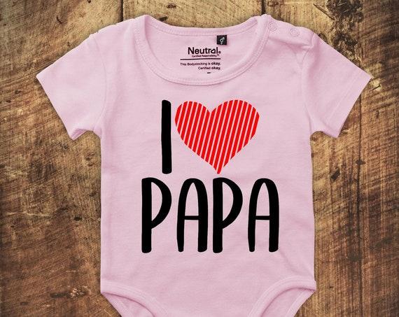 """BabyBody Bodysuit """"I Love Dad"""" Fair Wear"""