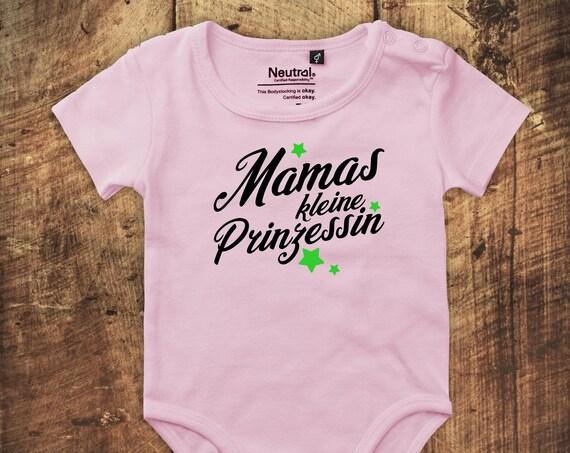 """kleckerliese Babybody Body """"Mamas kleine Prinzessin"""" Fair Wear"""
