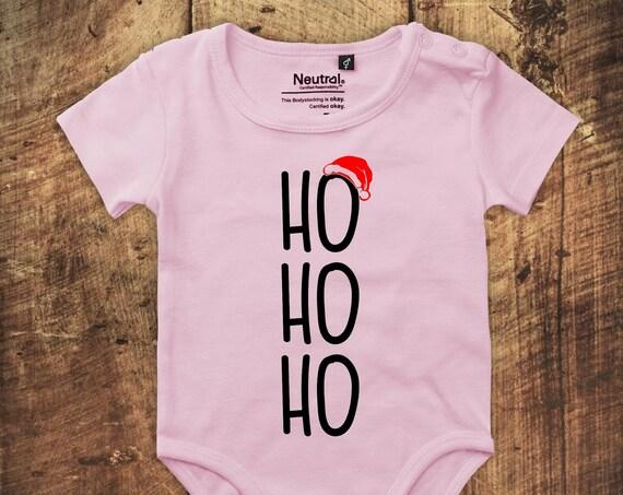 """kleckerliese Babybody Body """"Ho Ho Ho Weihnachten"""" Fair Wear"""