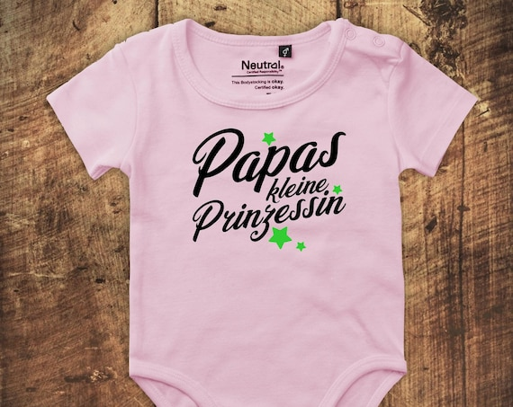 """kleckerliese Babybody Body """"Papas kleine Prinzessin"""" Fair Wear"""