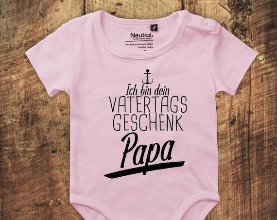 """kleckerliese Babybody Body """"Ich bin dein Vatertags Geschenk Papa"""" Fair Wear Vatertag"""