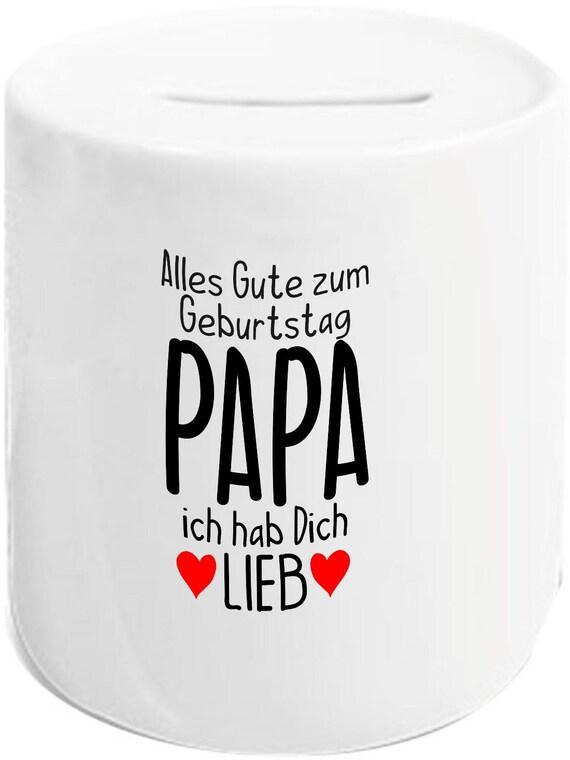 """kleckerliese Spardose Sparschwein """"Alles Gute PAPA ich hab Dich Lieb"""" Geldgeschenke Geschenkidee"""