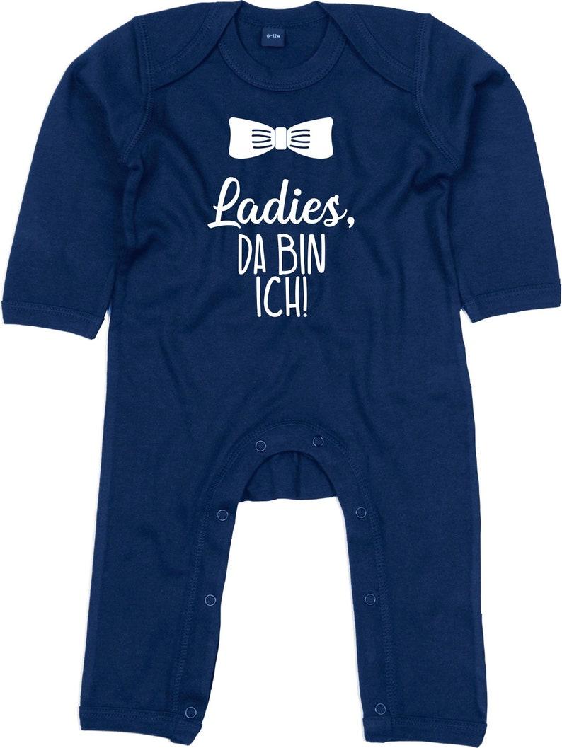 kleckerliese long sleeve romper Ladies there I am baby bodysuit pyjamas