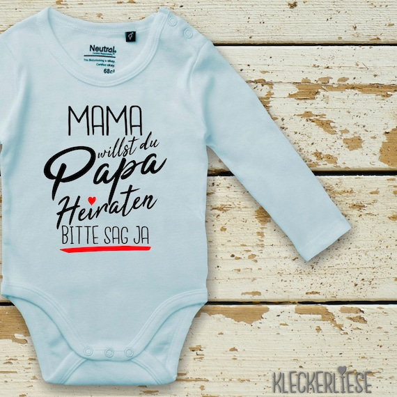 """Long Sleeve BabyBody Body """"Mom do you want to marry Dad?"""" Please say yes Fair Wear"""
