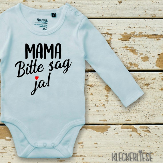 Long Sleeve Babybody Body Mama Please say yes! Mom you want to marry Dad? Fair Wear