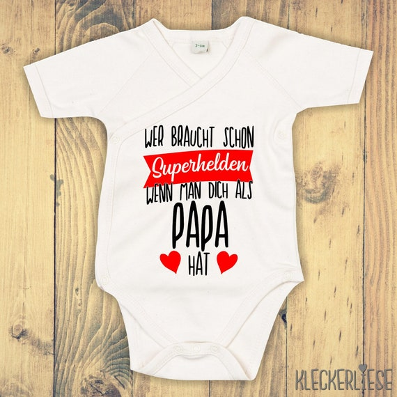 """Wrap Baby Body """"Who needs superheroes when they have you as a dad"""" Babybody Romper"""