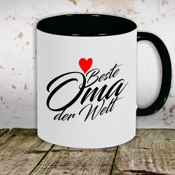"spilled coffee cup teacup cup motif ""Best Grandpa Best Grandma"" gift tea milk cocoa mug"
