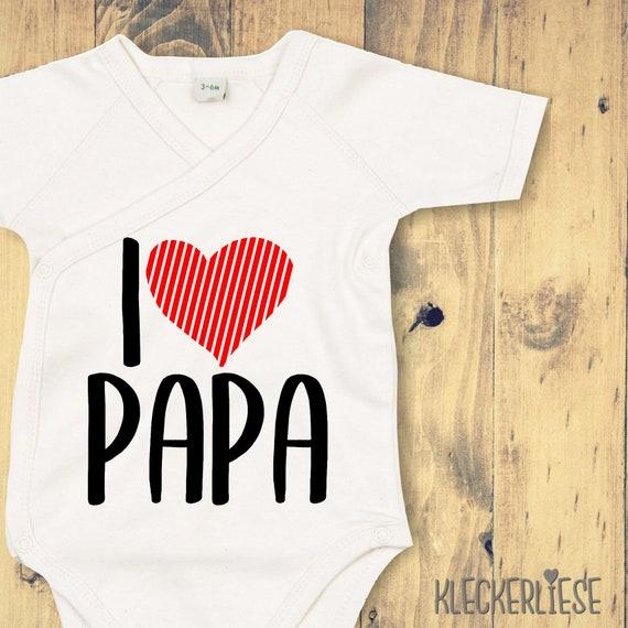 """Wrap Baby Body """"I love Papa"""" Babybody Romper"""