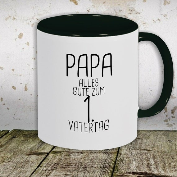 """kleckerliese Kaffeetasse Tasse Motiv """"Papa Alles Gute zum 1. Vatertag"""", Tasse Teetasse Milch Kakao Vatertag"""