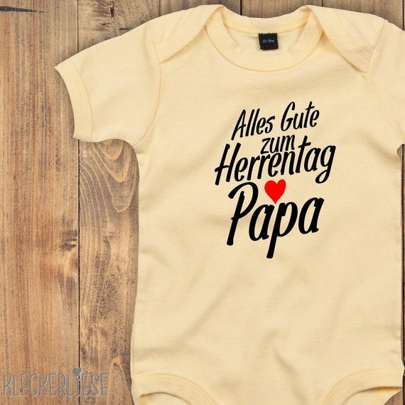 """kleckerliese Baby Body """"Alles Gute zum Herrentag Papa"""" Babybody Strampler Jungen Mädchen Kurzarm"""