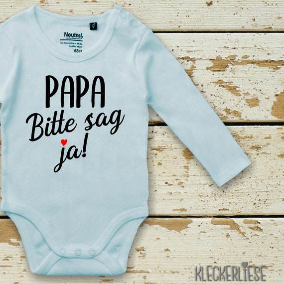 Long Sleeve Babybody Body Papa Please say yes! Dad you want to marry Mom Fair Wear
