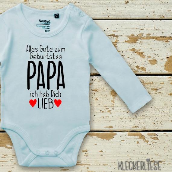 "Kleckerliese Long sleeve Babybody ""All the best PAPA I love you"" Baby Body Boys Girls Longsleeve Fair Wear"