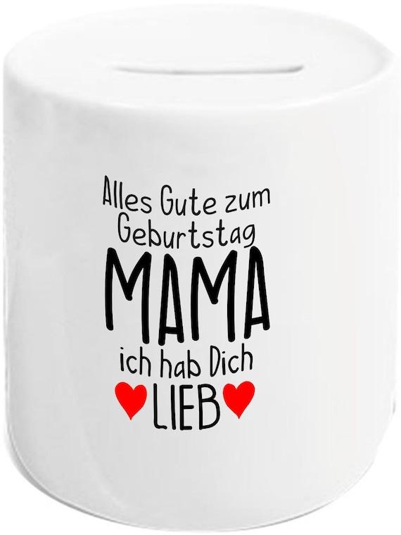 """kleckerliese Spardose Sparschwein """"Alles Gute MAMA ich hab Dich Lieb"""" Geldgeschenke Geschenkidee"""