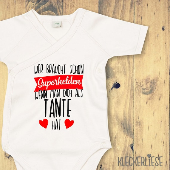 """Wrap Baby Bodysuit """"Who Needs Superheroes When You Have You As An Aunt"""" Baby Body Romper"""