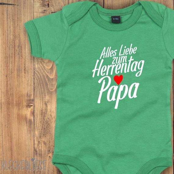 "kleckerliese Baby Bodysuit ""All Love to Men's Day Dad"" Baby body romper boy girl short sleeve"