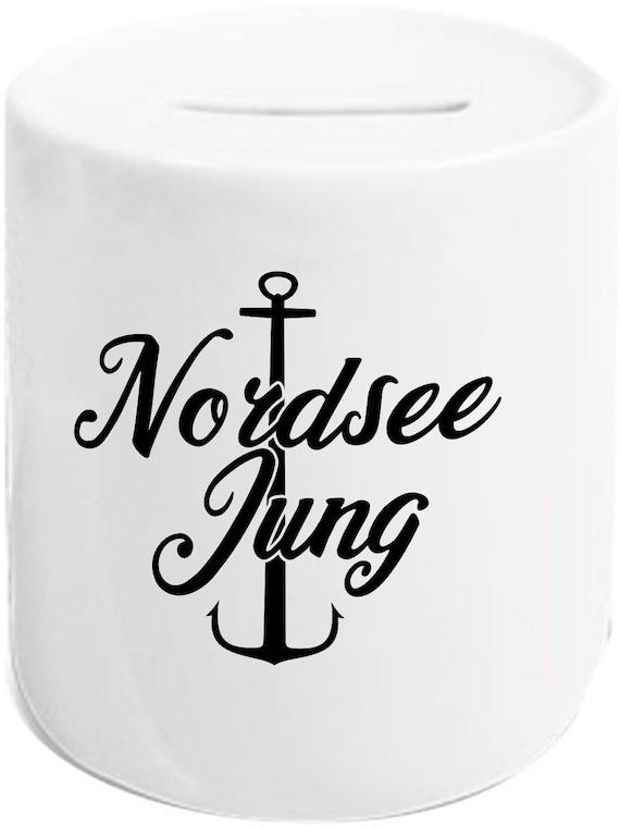 """kleckerliese Spardose Sparschwein """"Nordsee Jung Anker"""" Geldgeschenke Geschenkidee"""