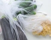 Reusable grocery bag for fruit and vegetables, clear produce bag for kitchen organization and storage food