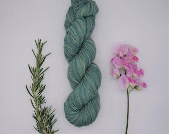 "Sockyarn - Luster Sock DK ""Midsummer"" 100g - naturally dyed, organic wool, non-superwash, plastic free"