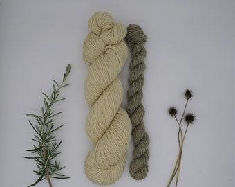"""Sockyarn - Luster Sock DK Set """"Lamium"""" 115g - naturally dyed, organic wool, non-superwash, plastic free"""