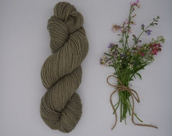 "Sockyarn - Classic Sock DK ""Sage"" 100g - naturally dyed, organic wool, non-superwash, plastic free"