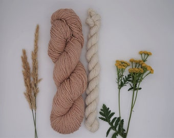 "Sockyarn - Luster Sock DK Set ""Ballerina"" 115g - naturally dyed, organic wool, non-superwash, plastic free"