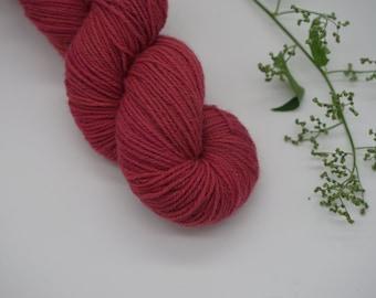 "Sockyarn - Classic Sock DK ""Pink Rose"" 100g - naturally dyed, organic wool, non-superwash, plastic free"