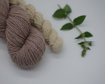 "Sockyarn - Luster Sock DK Set ""Purple Haze"" 115g - naturally dyed, organic wool, non-superwash, plastic free"
