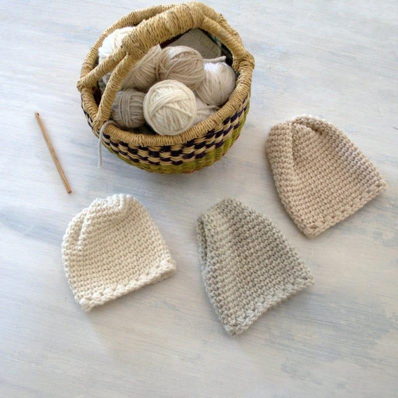 Newborn Beanie Pattern  Easy Crochet Baby Hat Pattern  DIY image 0