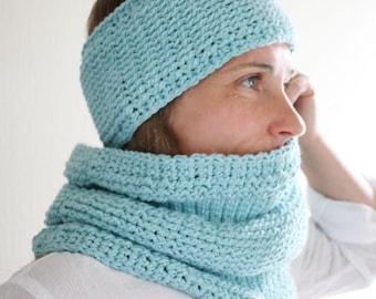 Crochet Patterns - Crochet Cowl Pattern and Headband Pattern - DIY Crochet Accessory Set by Golden Strand Studio - Woodland Trekke P201