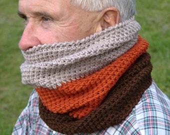 Cowl Pattern / Unisex Cowl Scarf Pattern / Crochet Scarf Crochet Pattern / DIY Cowl / Kids & Adults Sizes- Colorblock Cowl Pattern