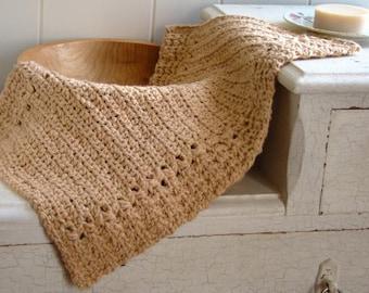 Crochet Pattern - Hand Towel Pattern - Crochet Dishcloth Pattern - River's Edge P116