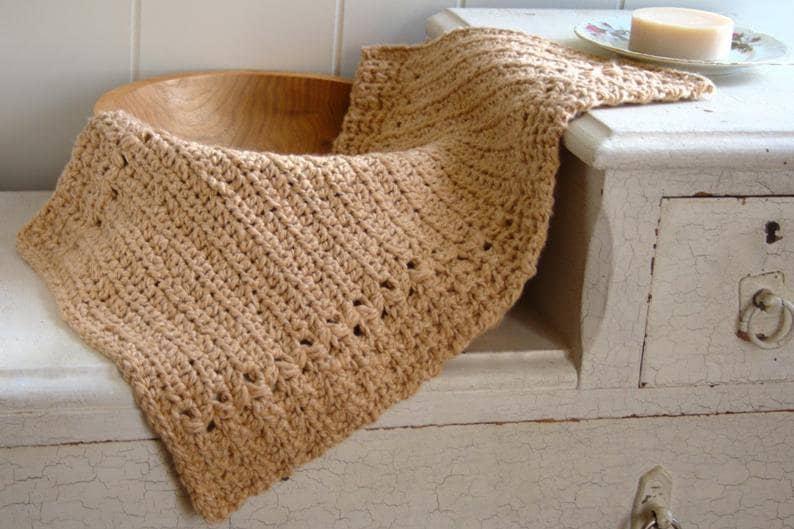 Crochet Pattern  Hand Towel Pattern  Crochet Dishcloth image 0