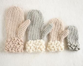 Crochet Pattern / Crochet Mitten Pattern / DIY Mittens for Child and Adult / Winter Spun Mittens by Golden Strand Studio - P-WinterSpun