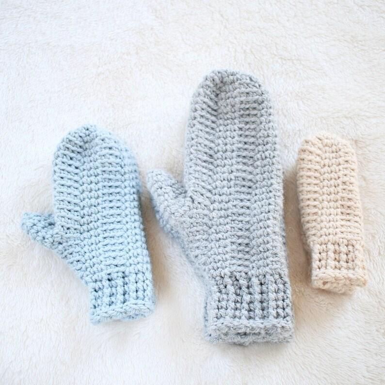 Mitten Pattern / Boys Winter Mittens Crochet Pattern / DIY image 0