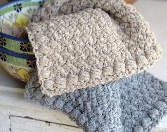Crochet Dishcloth Pattern Washcloth Pattern Crochet Hand Towel Easy Dishcloth Facecloth Pattern DIY Stocking Stuffer - Creek Pebbles P114