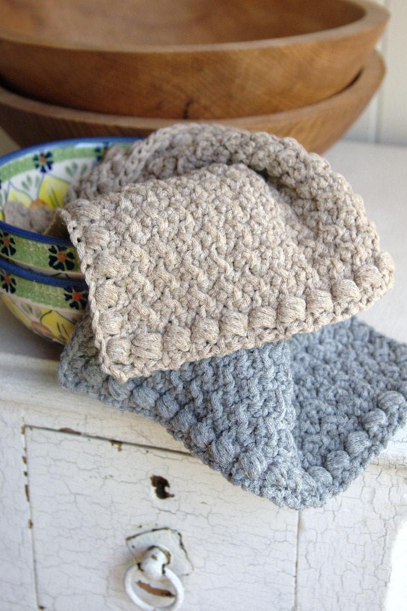 Crochet Dishcloth Pattern Washcloth Pattern Crochet Hand Towel image 0
