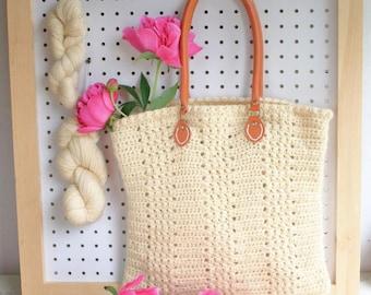 Easy Crochet Bag Pattern / DIY Tote Bag - Aluren Bag