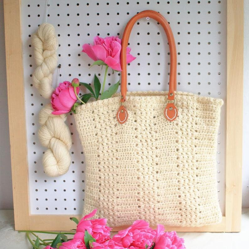 Easy Crochet Bag Pattern / DIY Tote Bag  Aluren Bag image 0