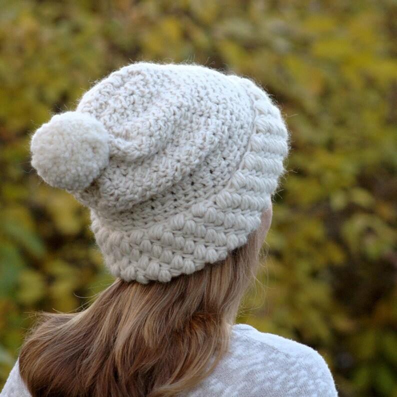 DIY Winter Hat  Womens Hat Pattern  Crochet Beanie Pattern  image 0