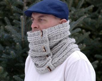 Crochet Patterns / 2 Crochet Scarf Pattern / DIY Scarf / Winter Cowl Pattern by Golden Strand Studio - Sugar Maple Scarf  and Cowl P207