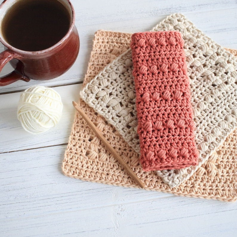 Crochet Pattern  DIY Washcloth  Crochet Dishcloth Pattern  image 0